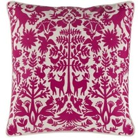 Maya Folk Art Hot Pink Pillow