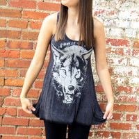 Winter Is Coming Wolf Tank - Final Sale