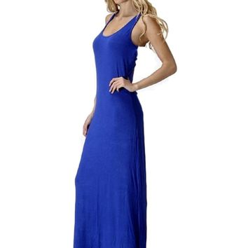 Sleeveless Racerback Maxi, Royal