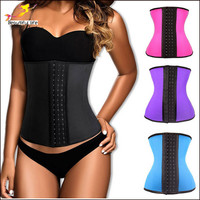 XS-6XL Plus Size Corset Latex Waist Cincher Waist Trainer For Women Sexy 9 Steel Boned Bustier Waist Corset Corselet  -C