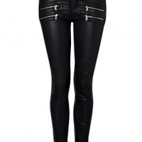 Coated Edgemont Ultra Skinny Jeans by Paige Denim