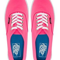 Vans Lo Pro Neon Pink Lace Up Trainers at asos.com