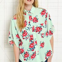 Pins & Needles Floral Cold Shoulder Top at Urban Outfitters