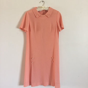 1960s Coral Korell Shift Dress