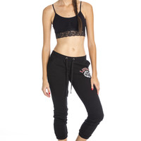 Retro Sweat Pants -Black ed
