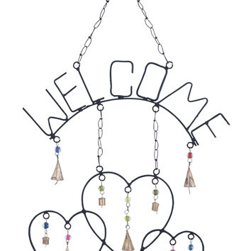 Welcome Wind Chime With Metal Design