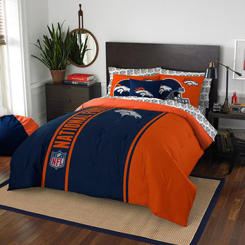 Denver Broncos NFL Full Comforter Bed in a Bag (Soft & Cozy) (76in x 86in)