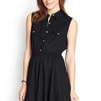 FOREVER 21 Fit & Flare Shirt Dress