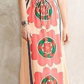 Anthropologie $198 Mira Costa Maxi Dress Sz M & L - by Anupamaa - NWT