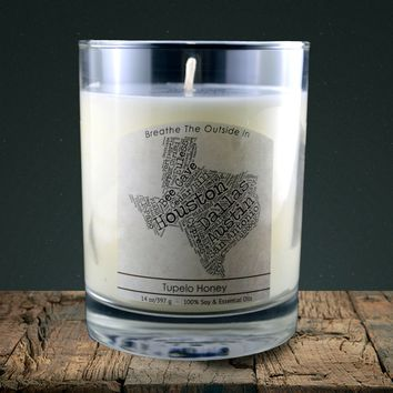Texas | 100% soy wax & essential oil candle | Classic Tumbler | 14oz.