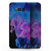 Glowing Pink and Blue CloudSwirl - Samsung Galaxy S8 Full-Body Skin Kit