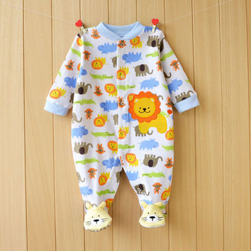 2015 Winter Baby Rompers Long Sleeves 100% Cotton Infant Coveralls Newborn Baby Boy Girl Clothes Baby Clothing
