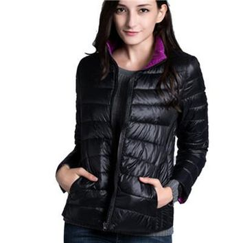 slim fit jacket Double Sided reversible  Parkas