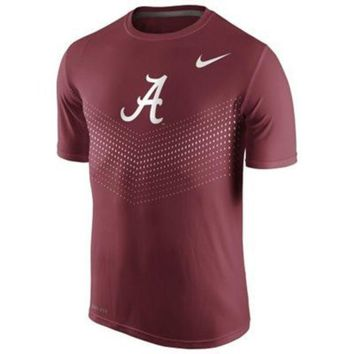 ONETOW NCAA Men's Nike Crimson Alabama Crimson Tide 2015 Sideline Legend Dri-FIT Performance T-Shirt
