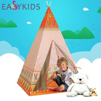 2 Style Hot Natural Indian Pattern Children Toy Tent Teepees Safety tipi Portable Playhouse for Kids Indoor Game Outdoor