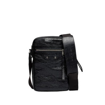 Balenciaga Reporter S Black - Men's Shoulder Bag