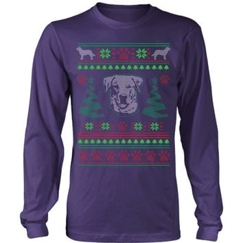 Labrador Retriever Ugly Christmas Sweater - Long Sleeve