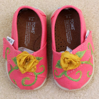 Garden Flower Tiny TOMS by BetterTOMorrowShoes on Etsy