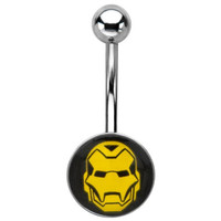 Marvel Universe - Iron Man Mask 316L Surgical Steel Belly Ring