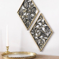 Gold Wall Plaque Set of 2