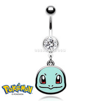 Squirtle Pokemon Belly Button Ring