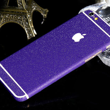 Frosted Purple Violet Sparkle Decal Wrap Skin Set iPhone 6s 6 / iPhone 6s 6 Plus