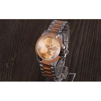 TOUS 2018 new trendy men and women with the same fashion wild quartz watch F-YY-ZT Silver&rose gold