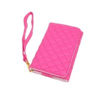 Niceeshop(TM) Protective Faux Leather Purse Wallet Case Card Holder for iPhone 4 4S
