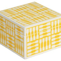 Trinket Box, Yellow, Small, Jewelry Boxes & Chests