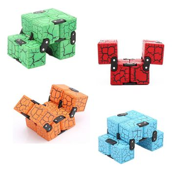 New Fashion Fidget Cube Infinity Cube High Quality Anti Stress Magic Cube Finger spinners Hand Out Door Game Toys Adult ADHD