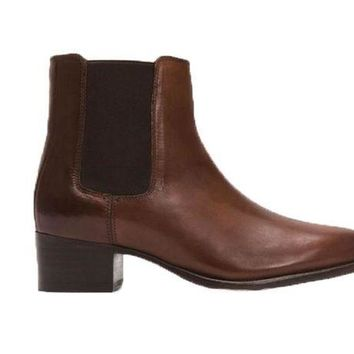 DCCKAB3 Frye Dara Chelsea Whiskey Short Leather Boots