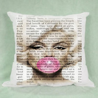 Top Famous Marilyn Monroe Bubble Gum Pillow Case Cushion 16 18 20 2 Side Cover