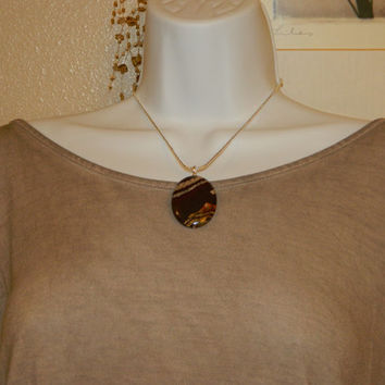 105ct. Mixed Brown Stone, Semi Precious, Agate, Pendant, Necklace, Oval, Natural Stone, 120-15