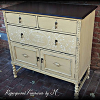 Painted buffet / painted shabby chic buffet / distressed buffet / sideboard / buffet / antique buffet / shabby chic desk / Secretary desk