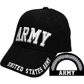 Army, Letters (Brass Buckle) Hat