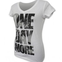 Les Miserables US Tour Ladies One Day More V-Neck Tee - Playbill Pty Ltd