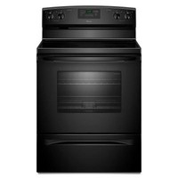 Amana 4.8 cu. ft. Electric Range with Self-Cleaning Oven in Black-AER5630BAB - The Home Depot