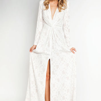 Stone Cold Fox Murietta gown in white,