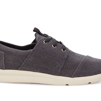 TOMS Grey Canvas Textured Women's Del Rey Sneakers Grey