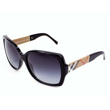 Burberry Women's BE4160 34338G Black Square Sunglasses | Overstock.com Shopping - The Best Deals on Fashion Sunglasses