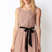 Sweet Side Pleated Dress w/ Sash
