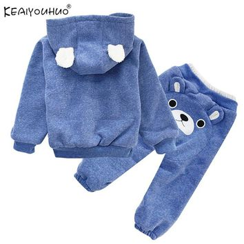 KEAIYOUHUO Kids Clothes Sets Cotton Boys Sport Suit Baby Girl Clothes Autumn Outfits Suits Clothes Long Sleeve Children Clothing