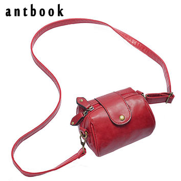 2016 new high quality women crossbody bag PU leather solid color shoulder bag designer vintage women messenger bag camera bag