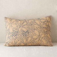Stitched Floral Bolster Pillow