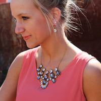 Your Juliet Necklace {Clear/Pewter}