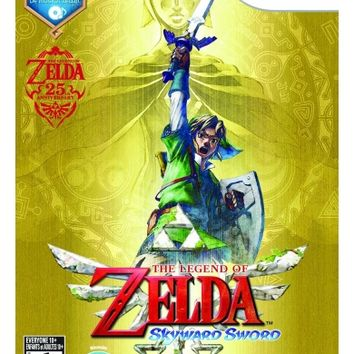 The Legend of Zelda Nintendo Wii Game Skyward Sword with Music CD Sealed Toys