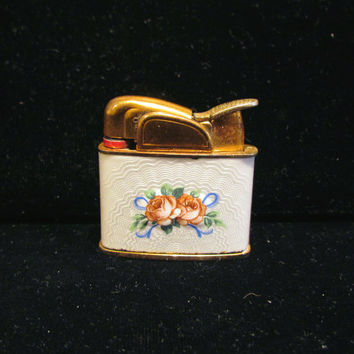 Vintage Lighter Guilloche Lighter Evans Lighter Ladies Lighter Pocket Lighter WORKING LIGHTER
