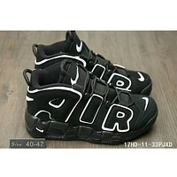 Nike Air More Uptempo men and women tide brand fashion shoes F-HAOXIE-ADXJ Black