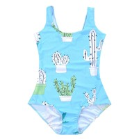 Summer Women Sexy SWIMSUIT Popular Newest Cactus Bodysuit Backless Beach Swimwear