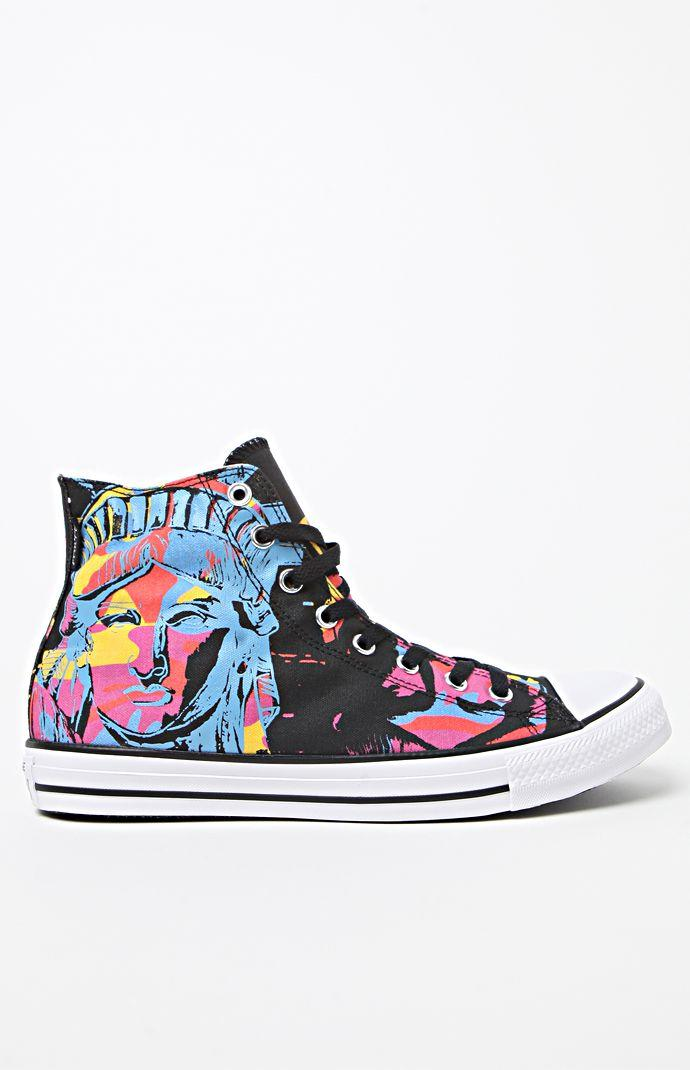 Converse Chuck Taylor All Star Hi Warhol Lady Liberty Shoes - Mens Shoes -  Black ebe480f99d75